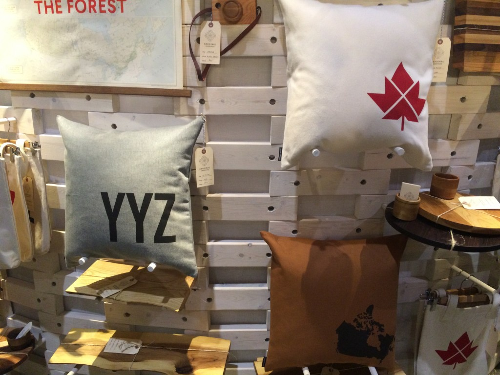 YYZ pillow by Cardinal Handmade at the Toronto one of a kind show