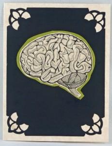 brain greeting card by creepy christine