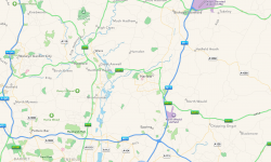 map to stansted airport image