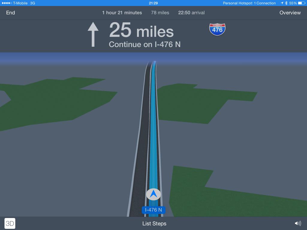 Maps on iPad image
