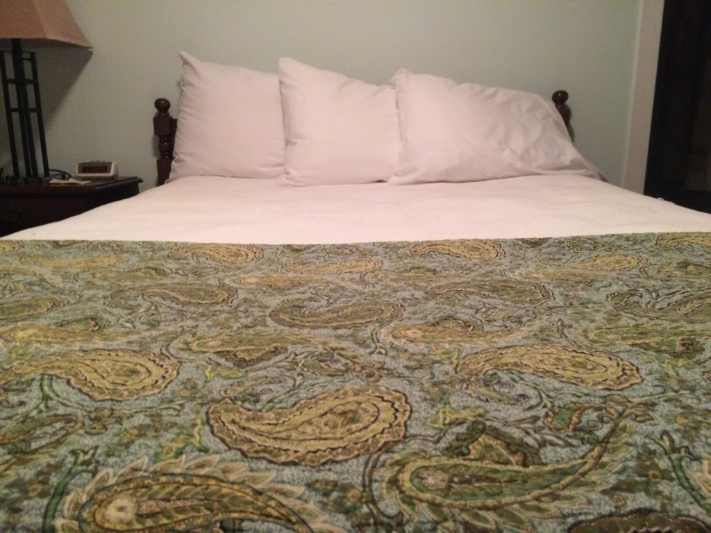 my bed at my health and fitness retreat