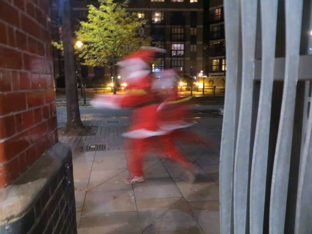 Santa running in London