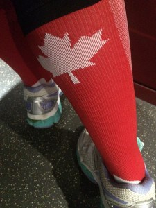 maple leaf running socks