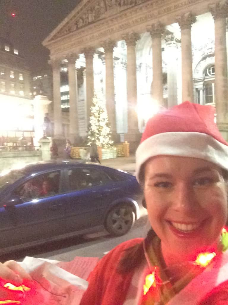 santa run route by royal exchange london
