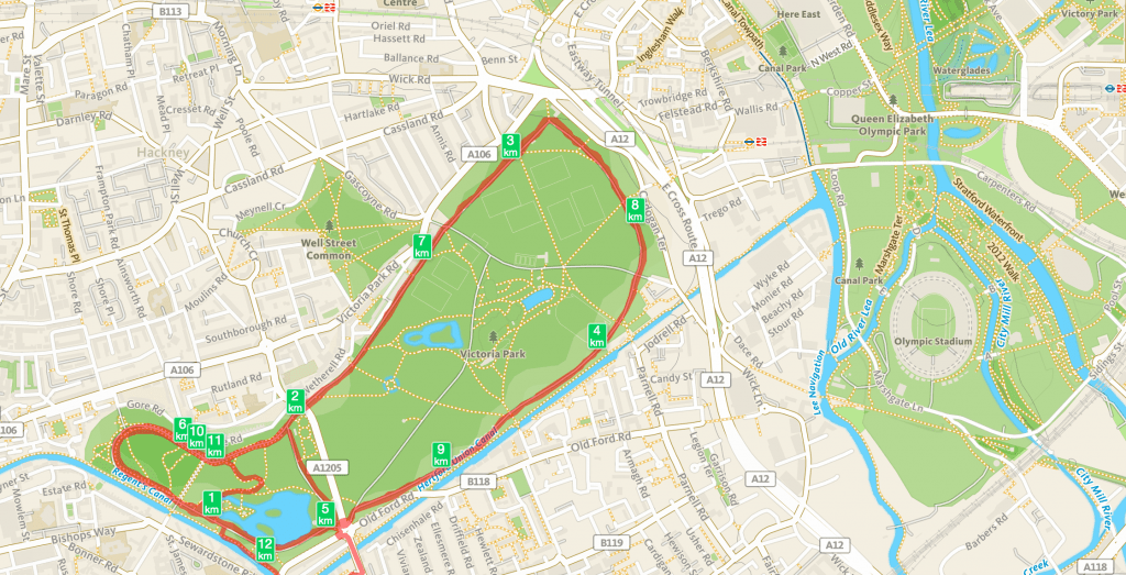 London running route image
